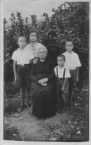 My Grandmother with my sister Nina and brothers 1937
