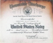 Honorable discharge for Diamantis Chlentzos, 1961
