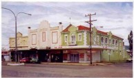 Picture Gallery. Chapt 7. of KEVIN CORK's Ph.D thesis. ROXY - Photograph 1: Roxy Theatre and shops, corner Maitland and Cunningham Streets, Bingara, 1996.