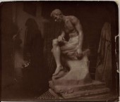 The Thinker, 1914 by Emmanuel Cavacos. The clay model in his studio 1915