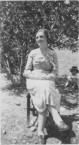 Mary Sophios' mother in her garden.