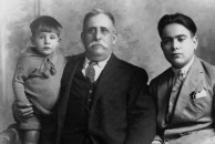 Brettes Haniotis and two sons