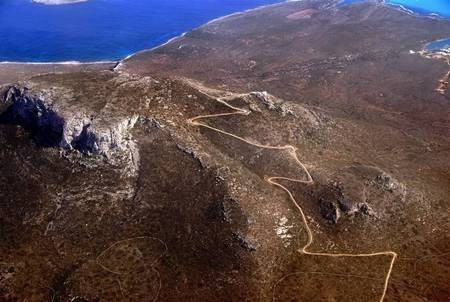 Aerial Photo of walls and road at St. George