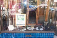 Paragon Cafe, Katoomba, Front Window with Cafe artefacts, 2004