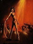 """Peter Sophios - The Stripper - Acrylic on Board 14"""" x 18"""""""