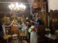 The Archbishop of Kythera conducting the Epithany Day service
