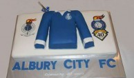 Cake created to celebrate the 40th anniversary of the creation of the Albury Soccer Club