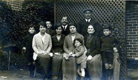 John D Comino with his family