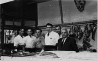 Harry Aliferis's Bondi Junction butchery. With father-in-law Evangelos Dermatis, and 5 staff members.