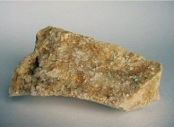 Almond Stone with Crystals