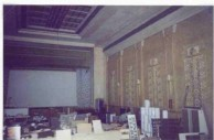 Picture Gallery. Chapt 7. of KEVIN CORK's Ph.D thesis. ROXY - Photo 6 : Interior views of the Roxy Theatre. The auditorium. Another view. Still looking like a Kytherian apothiki. 1996.