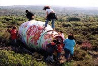 A volunteer group from Potamos transforms the abandonned cement tanker