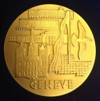 Gold medal awarded to Angelo and John Notaras of Atom Industries, at the .....