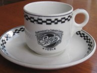 Coffee cup and saucer from Peters & Co café in Kyogle