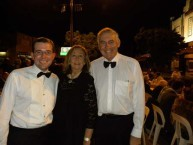 Adam Marshall, State Member for Northern Tablelands, Roxy Patron and Bingara local, Nancy McGuiness and the Honourable George Souris, NSW Minister for Tourism and the Arts